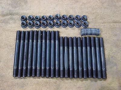 Ford 351w 351 w 408 Cylinder head stud kit 4340 12 point nuts bolts