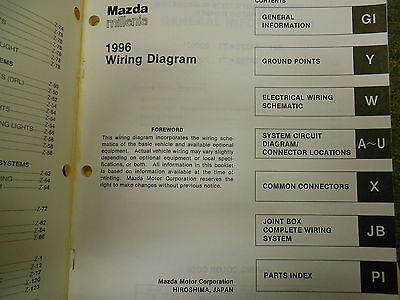 1996 mazda millenia service repair shop manual set oem factory books 96