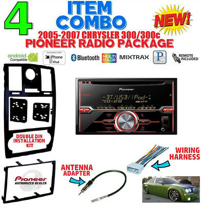 05 06 07 chrysler 300 bluetooth touchscreen cd usb aux bt car radio automotive  wiring harness