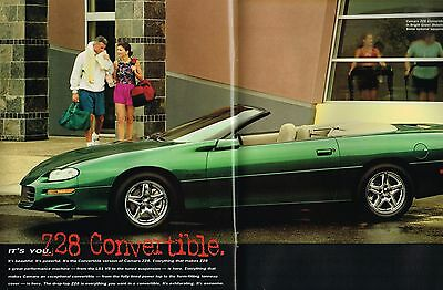 1998 Chevy Camaro Brochure Catalog With Color Chart Z28