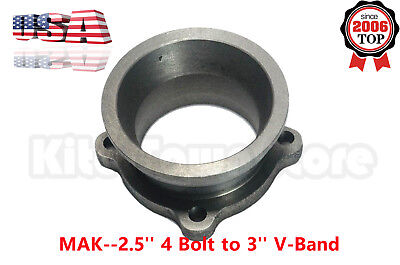 Turbo Downpipe 2 5'' 4 Bolt to 3'' V-Band Exhaust Flange
