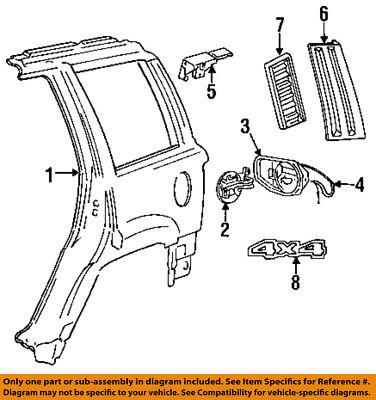 Strange Jeep Chrysler Oem Liftgate Tailgate Hatch Emblem Badge Nameplate Wiring Database Obenzyuccorg