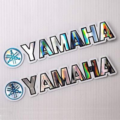 Blue yamaha reflective sticker die cut foil emboss helmet truck car bike