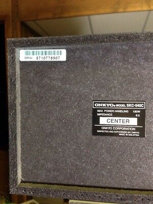 Onkyo Speaker System Lot SKC-540C SKC-540F Center & Front