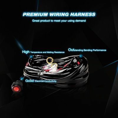 Nilight LED Light Bar Wiring Harness Kit 12V On off Switch,2 Year on