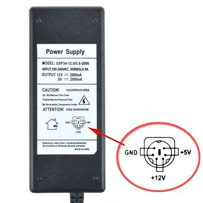 Power Supply Cord Adapter 12V/2A 5V/2A KY-05046S-12-H AC/DC