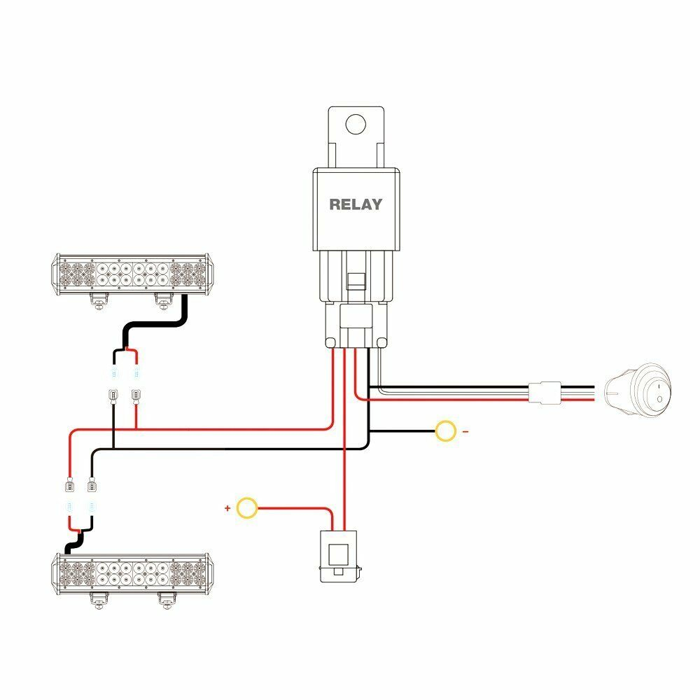 Nilight Led Wiring Diagram Data Dimmer Switch Diagrams Light Bar Harness Kit 12v On Off Switch2 Year Box