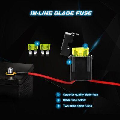 Nilight LED Light Bar Wiring Harness Relay Kit 12V On Off ... on