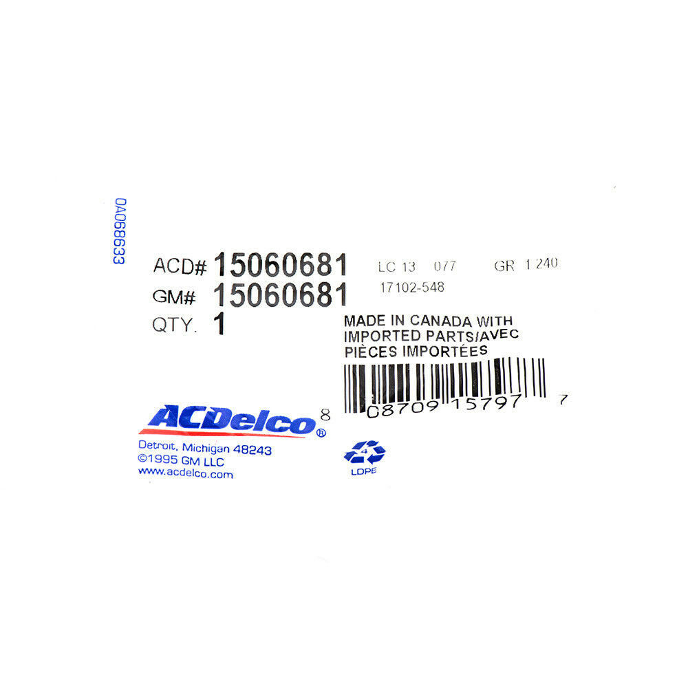 ACDelco 15060681 GM Original Equipment Engine Coolant Recovery Tank Cap