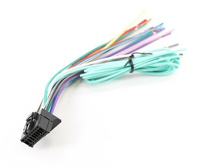 xtenzi power cord wire harness plug for pioneer avh-p4400bh avh-p3400bh  cdp1435