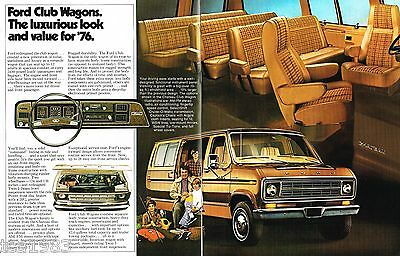 1976 Ford CLUB WAGONs VAN Brochure/Catalog:E-100,150,250
