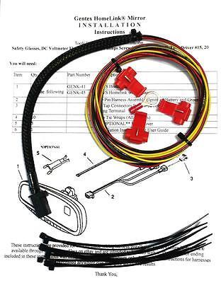 gentex gntx 313 453 homelink auto dimming rear view mirror wire rh restomods com homelink mirror wiring diagram gm homelink wiring diagram