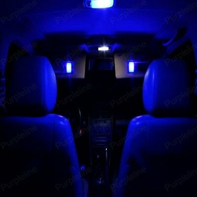 16 x Blue LED Interior Lights Package For 2009 - 2014 Acura