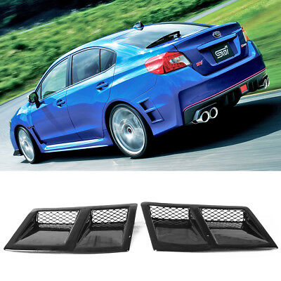 For Subaru WRX STI 4th Sedan Painted ABS Rear Side Vent