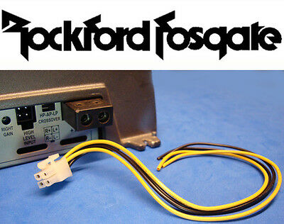 rockford fosgate 4 pin amp amplifier speaker high level input plug rockford fosgate 4 pin amp amplifier speaker high level input plug wire harness 7 95