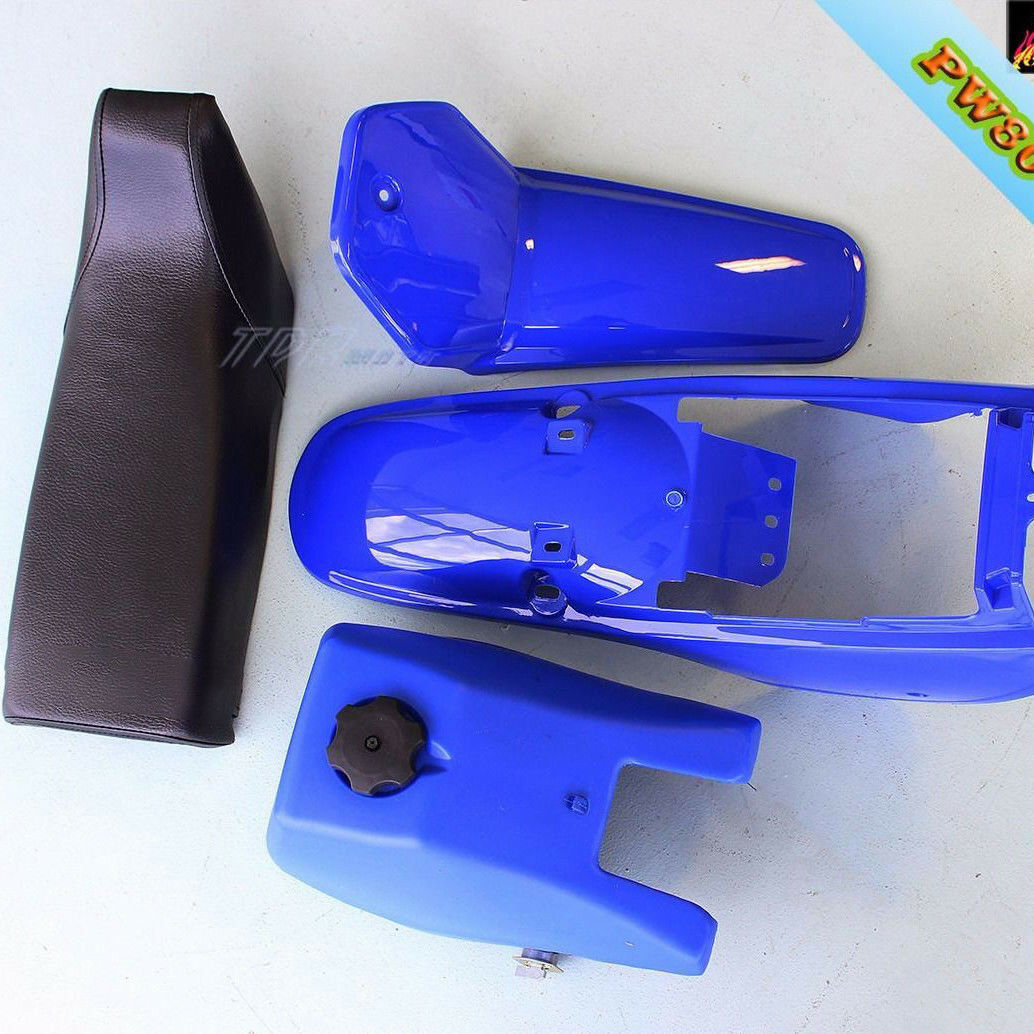 BLUE Plastic Fender Kit Body Cover Fuel Tank Seat Fairing Yamaha PW80 PY80