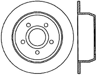 C Tek Standard Disc Brake Rotor Fits 1999 2004 Jeep Grand Cherokee C