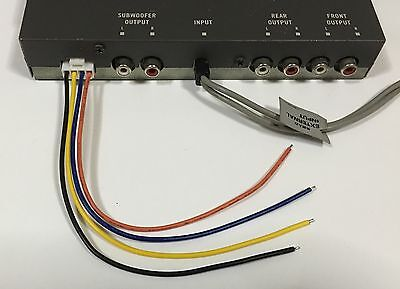 3 x Power Plug 4 Pin Wire Harness For Pioneer DEQ-9200 / DEQ ...  Pin Pioneer Wiring Harness on