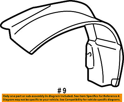 Gm Oem Front Fender Liner Splash Shield Right 22603518 For Sale