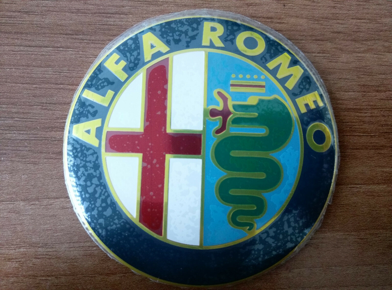 Alfa Romeo Color Emblem Badge Logo Insignia 74mm For 145 146 147155 159 166 Sale