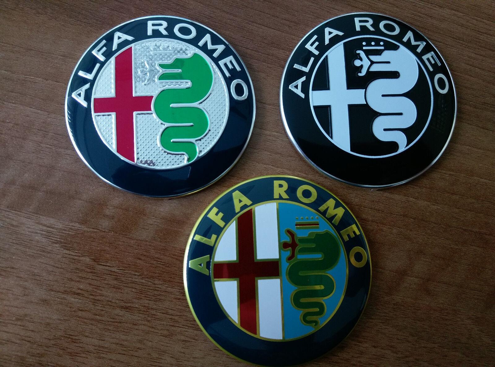 Alfa Romeo Color Emblem Badge Logo Insignia 74mm For 145 146 Symbol 147155 159 166 Sale