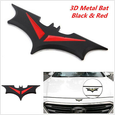 1x Metal Bat Logo Car Door Hood Fender Sticker Batman Badge Emblem Tail Decal
