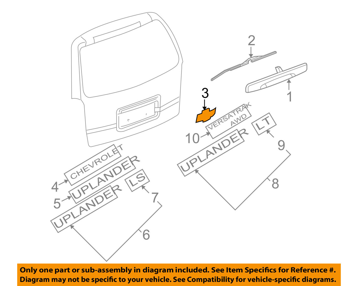 Hhr Chevy Talegate Diagrams Online Manuual Of Wiring Diagram Tailgate Bowtie Emblem Gold New Oem Gm 19209664 For Sale Rh Restomods Com