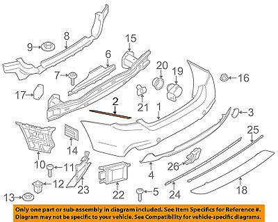 bmw oem 14-16 428i rear bumper-bumper cover protector left 51127400295