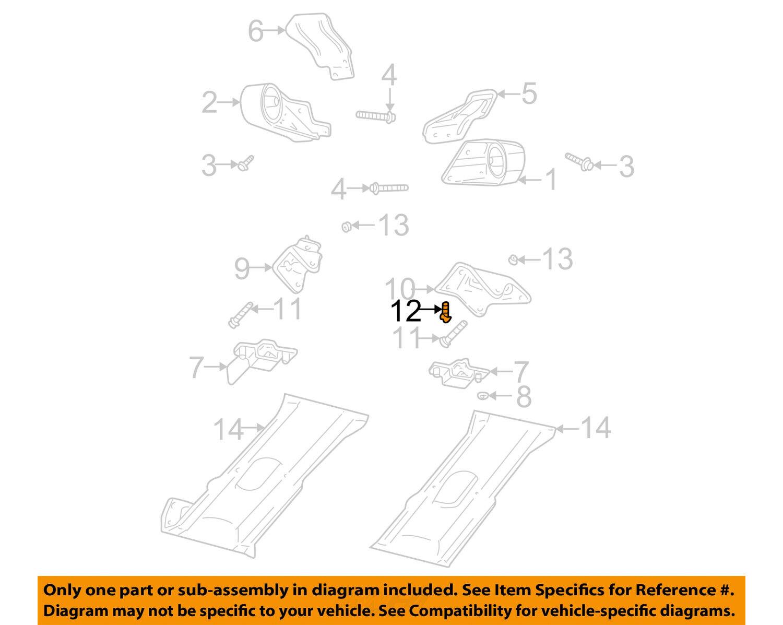 CHRYSLER OEM Engine Motor Transmission-Transmission Mount Bracket Bolt  6033358 For Sale
