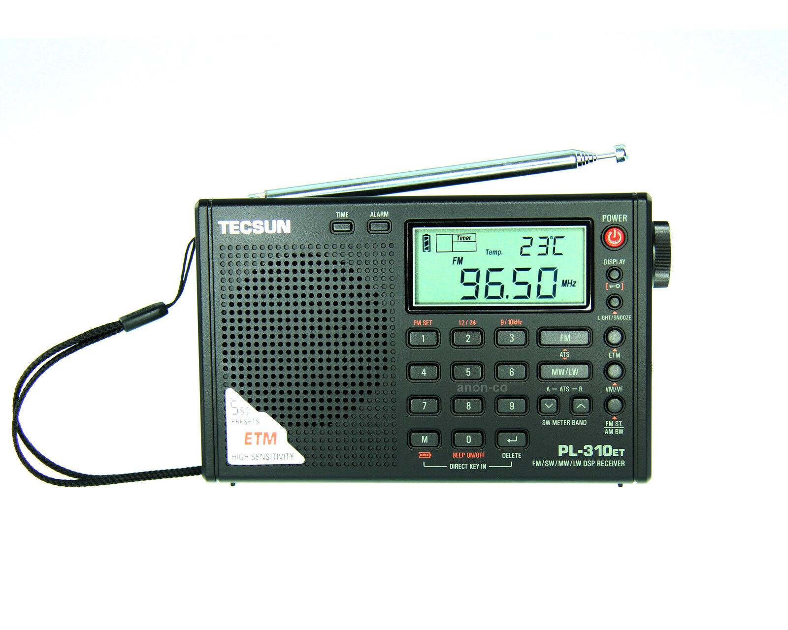 TECSUN PL-310ET (Black Color) PLL DSP Multi Band Radio ** ENGLISH