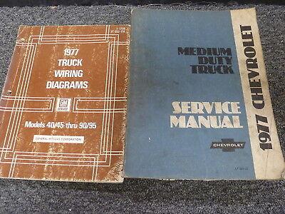 1977 chevy c40 c50 c60 c70 truck wiring diagrams & shop service repair  manual  $89 55