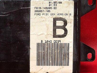 00 FORD F250 F350 SUPER DUTY SEL INTERIOR FUSE BOX GEM ...  Ford F Fuse Box on