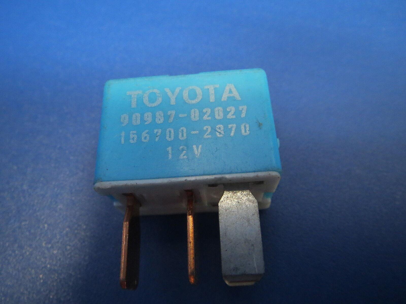 Fuse Box Relay Toyota 90987 02027 156700 2870 12v Blue Denso Oem Japan B3 For Sale