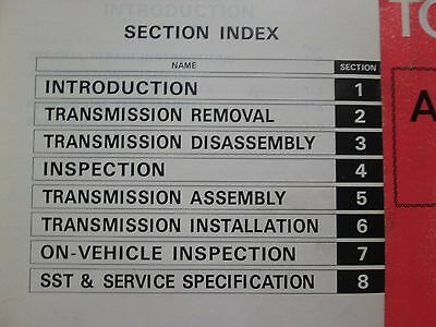 1978 Toyota Automatic Transmission A40D A42D A43D Service Repair