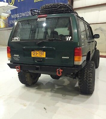 Jeep Cherokee XJ 84-01 Custom Rear Bumper with rec For Sale