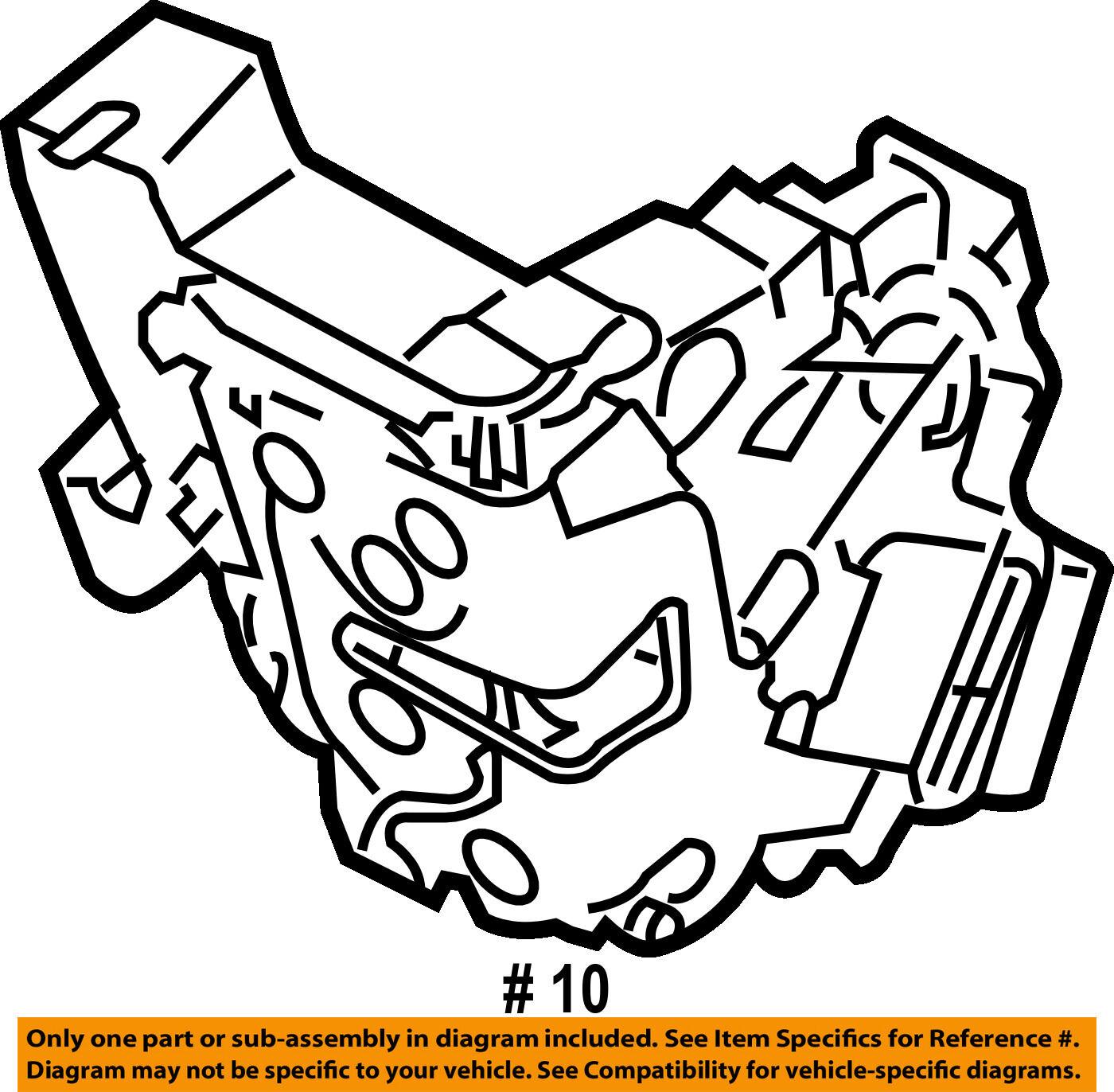 Volvo Oem 10 16 Xc60 Front Door Lock Actuator Motor 31253657 For Sale Engine Diagram