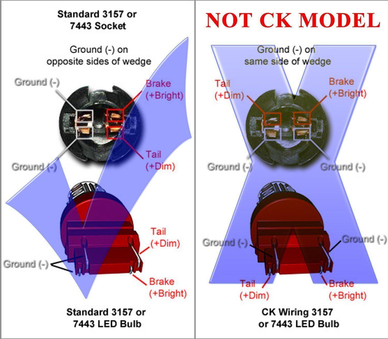 JDM ASTAR 3157 3457 SRCK CK Socket Red AX-2835 SMD Turn Signal LED Light  Bulbs For Sale