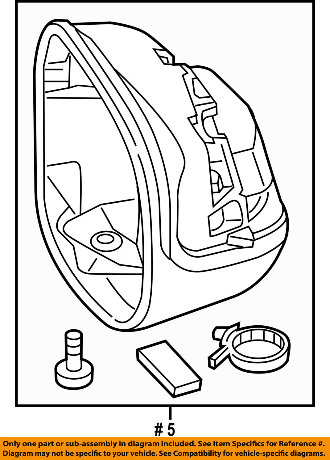 Honda Oem Door Side Rear View Mirror Housing Or Cap Cover Left Diagram 76255tr0a01 For Sale
