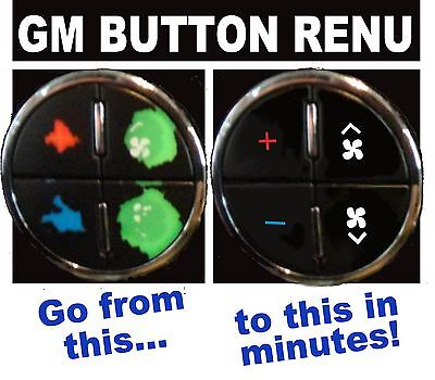 2007-2013 CHEVROLET TRAVERSE AC BUTTON DECALS GM CLIMATE