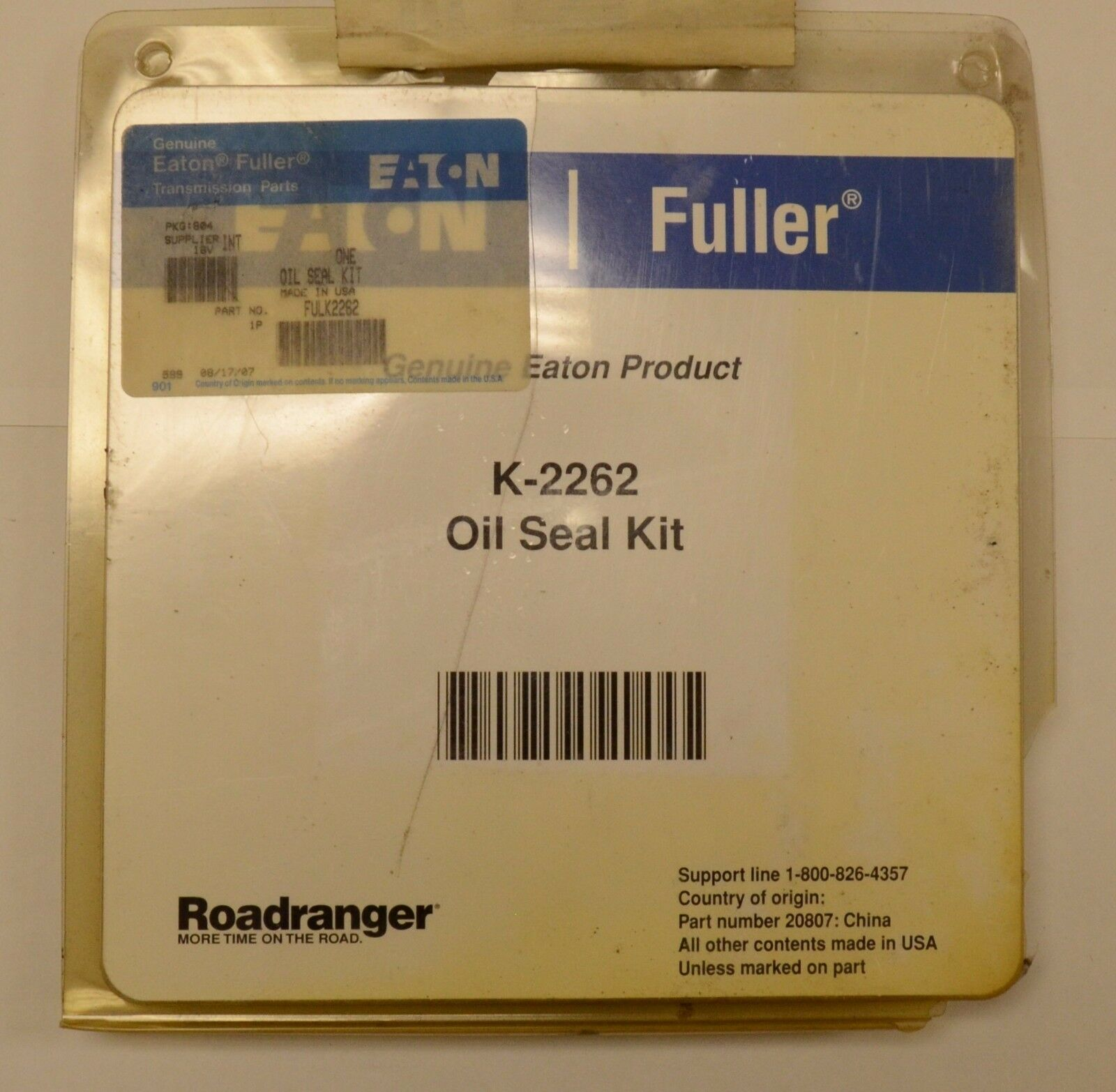 EATON FULLER K2262 OIL SEAL KIT ROADRANGER, NOS  For Sale