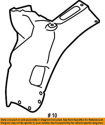 Audi Oem 04 10 A8 Quattro Front Fender Liner Splash Shield Right