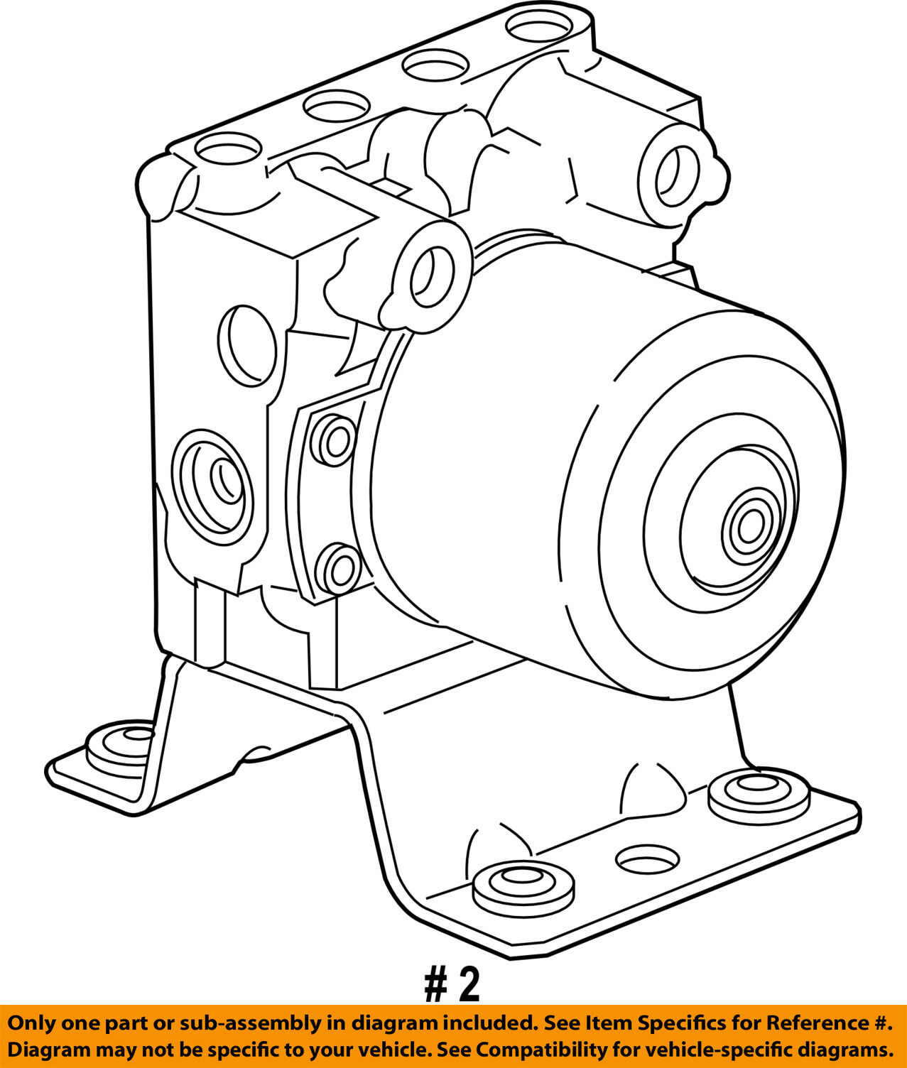 Gm Oem Abs Anti Lock Brakes Modulator Valve 25818716 For Sale Diagram