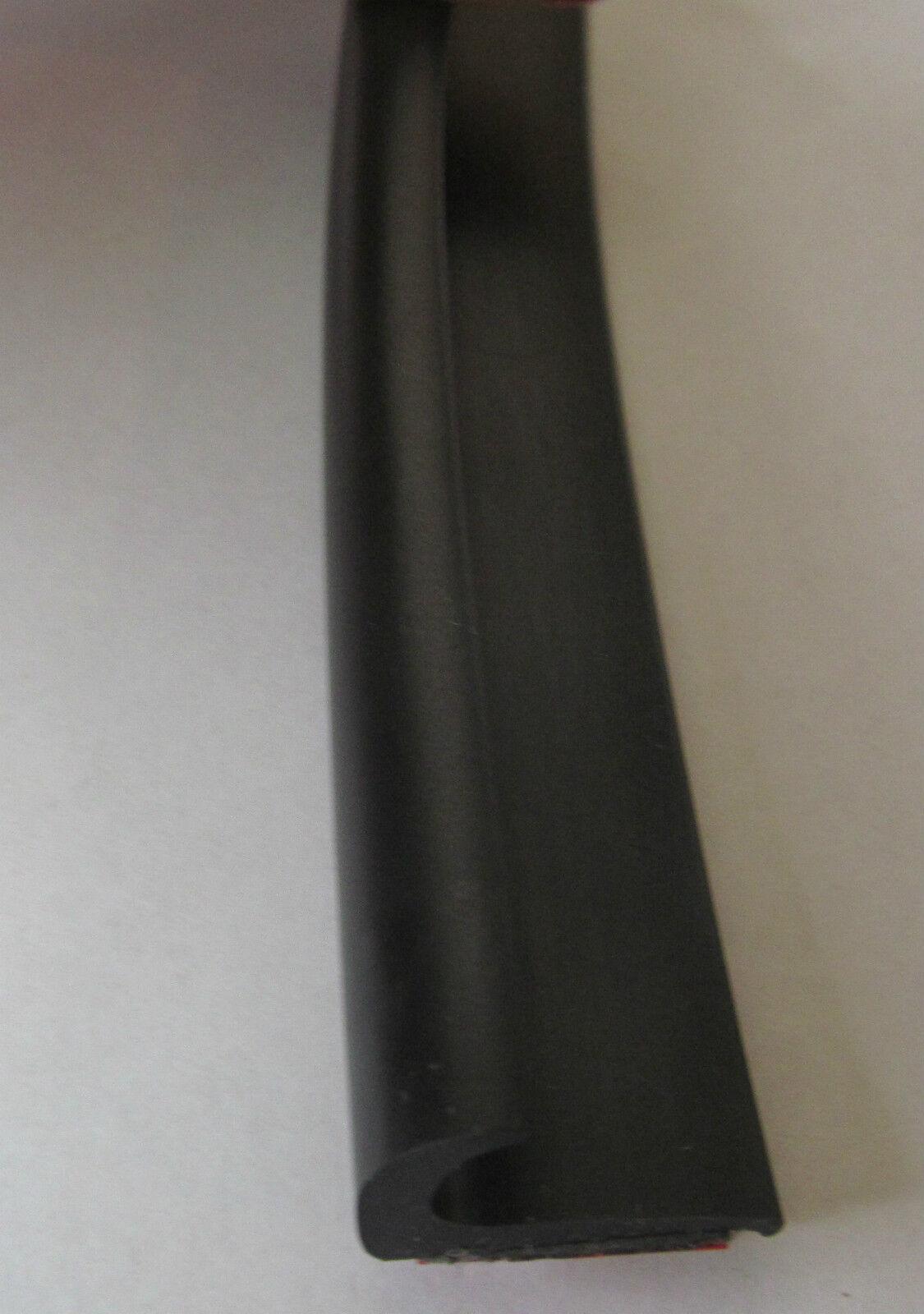 J Rain Gutter Drip Rail BLACK Plastic 3M Peel Stick RV Truck