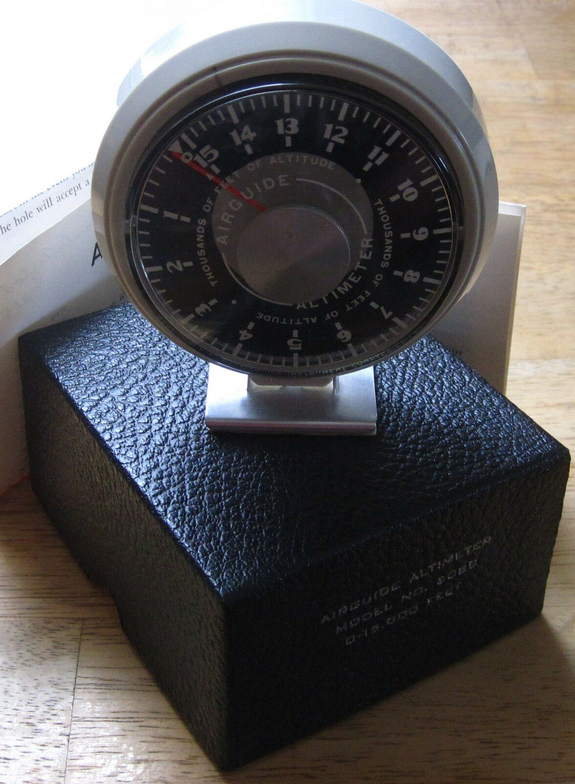 AIRGUIDE VINTAGE ALTIMETER, MODEL 608C, 0-15,000 FEET, MADE ... on