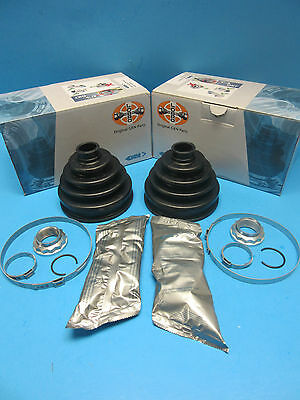 2 Front Axle Outer CV Joint Boot Kits Left & Right for BMW