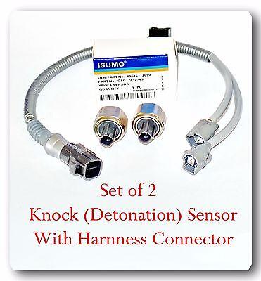 2 knock sensor w pigtail wire harness kit set fit: lexus & toyota v6 3 0