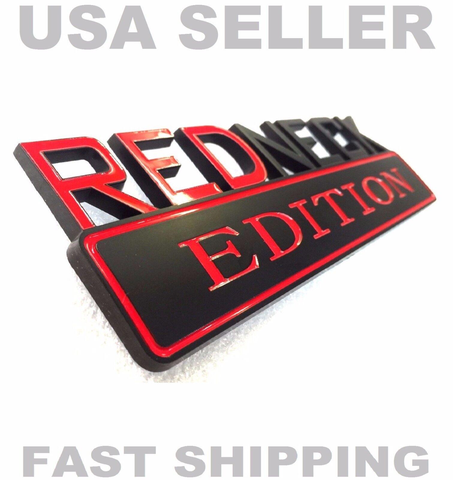 REDNECK EDITION car truck OLDSMOBILE EMBLEM logo decal SIGN