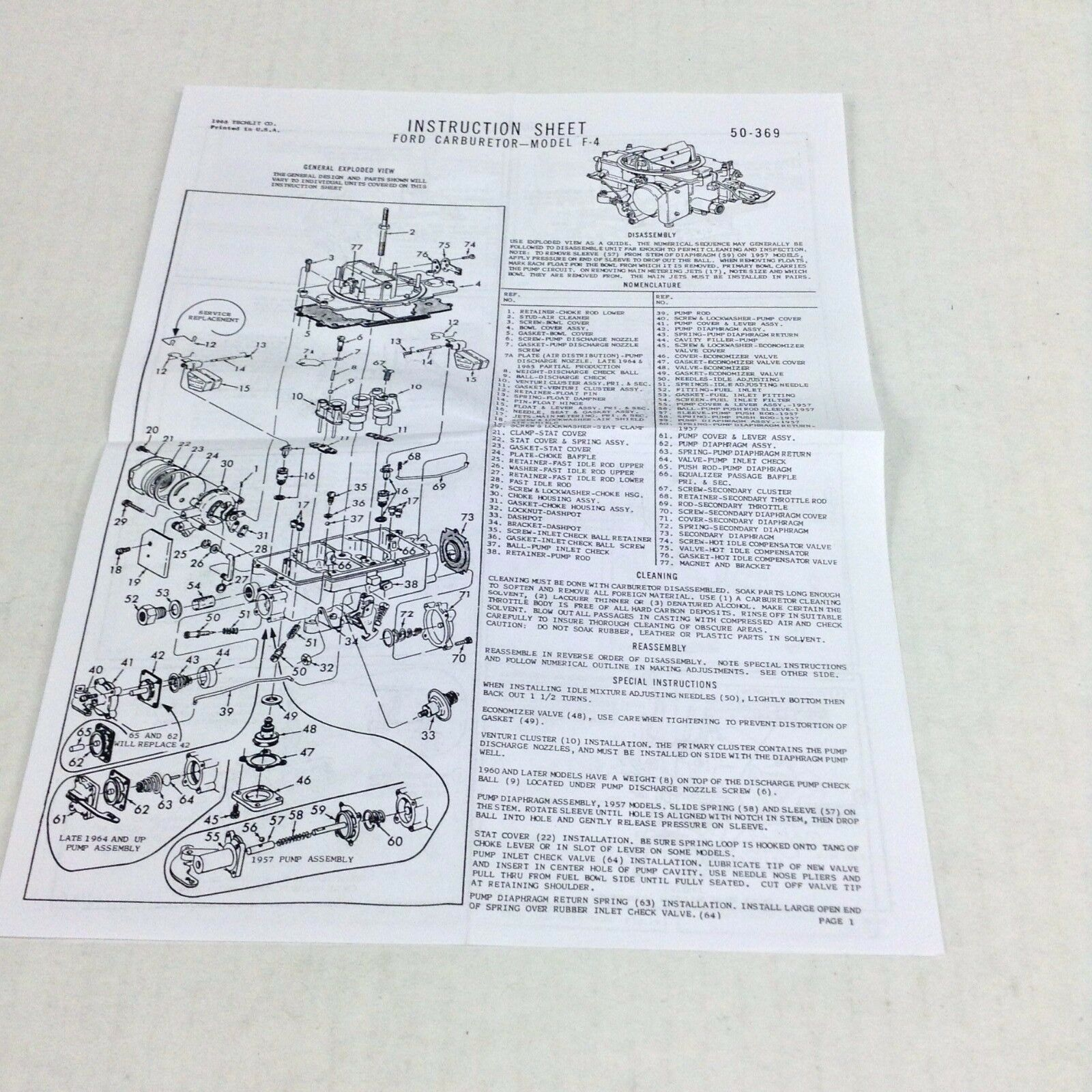 Ford 2100 Carburetor Diagram