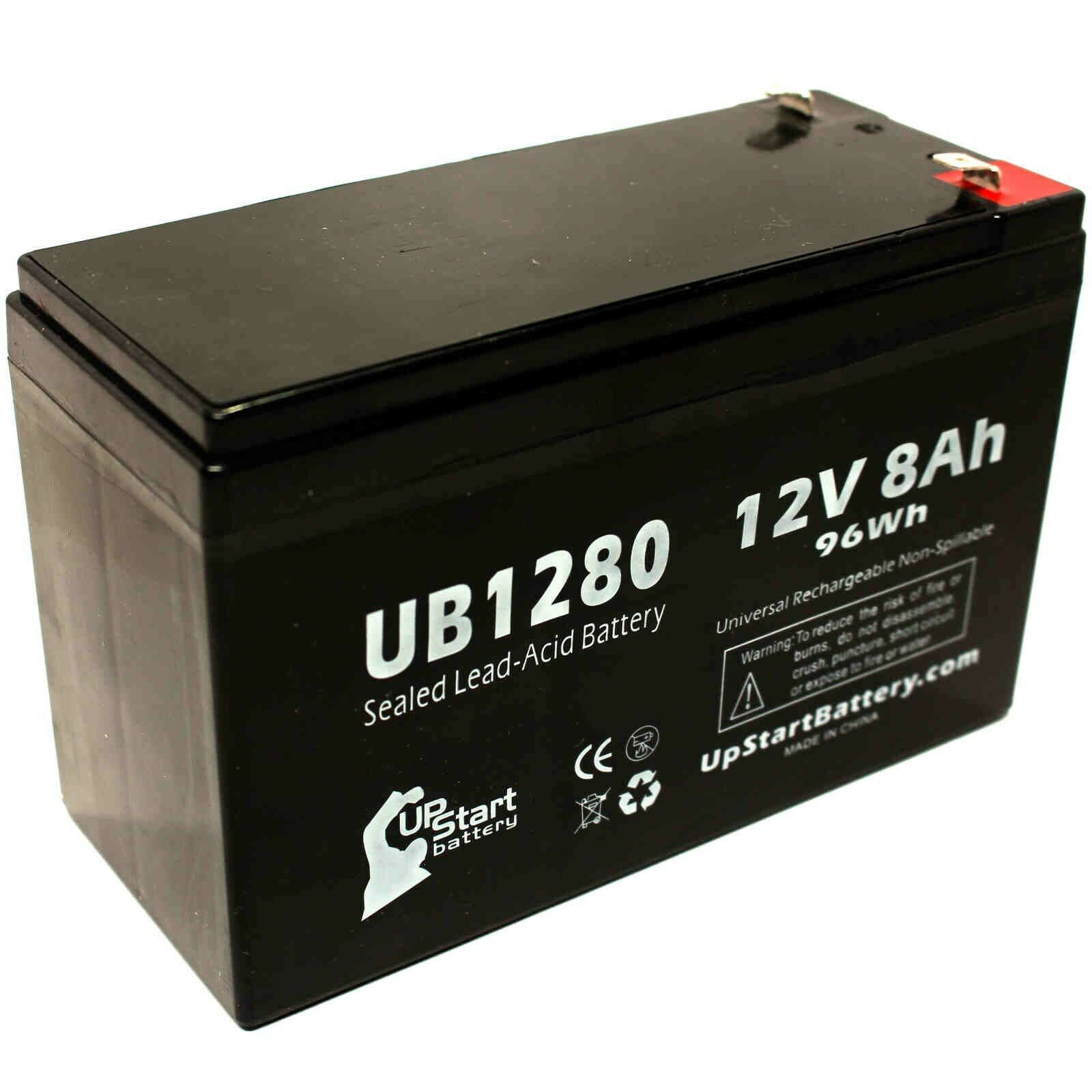 Alpha Technologies PINBP700T SLA 12V 7Ah with F1 Terminal Replacement Battery Set
