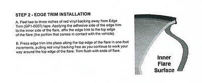 Bushwacker Fender Flare Flair Edge Trim J C Style 30 FT Feet